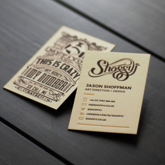 Back in business…cards